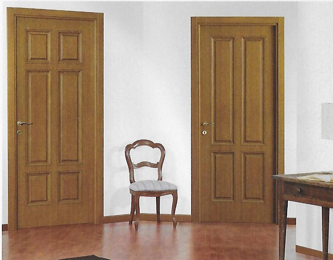 Porta classica legno giallo coppia